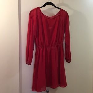 Pins and Needles (UO) red long sleeve dress size S